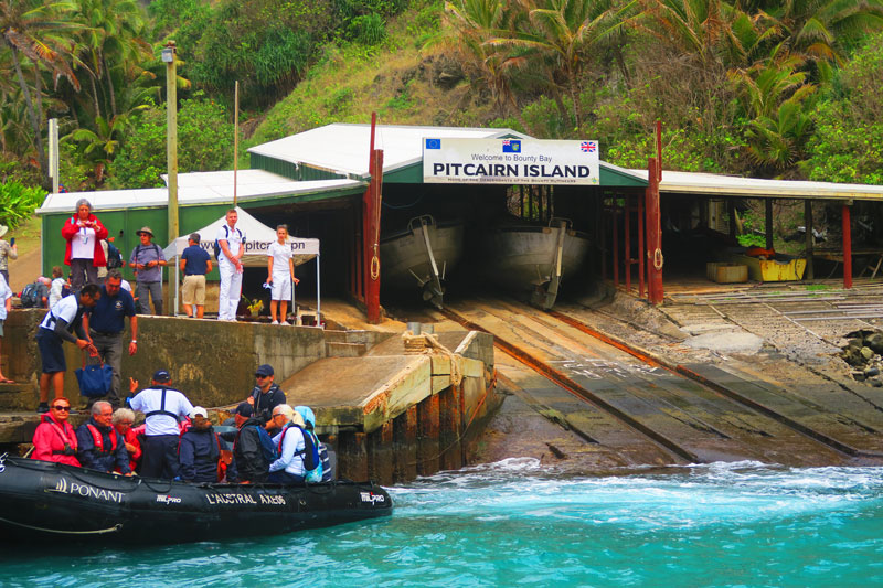 Pitcairn island landing area