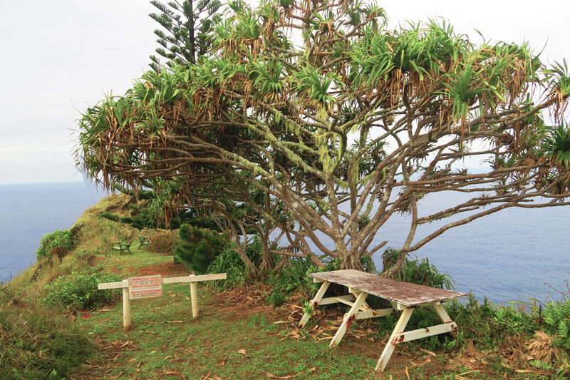 Ship's Landing Point lookout Pitcairn Island