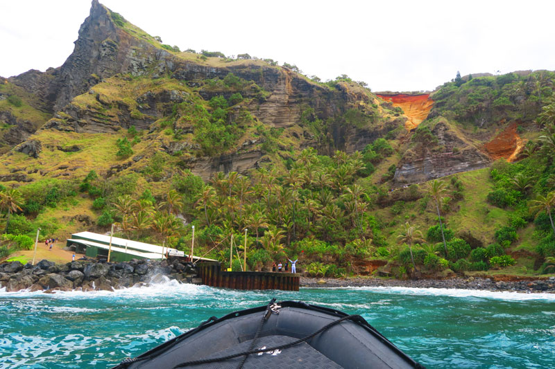 approaching Pitcairn island
