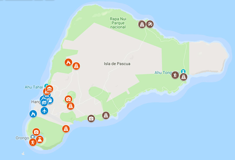 3 Days in Easter Island map