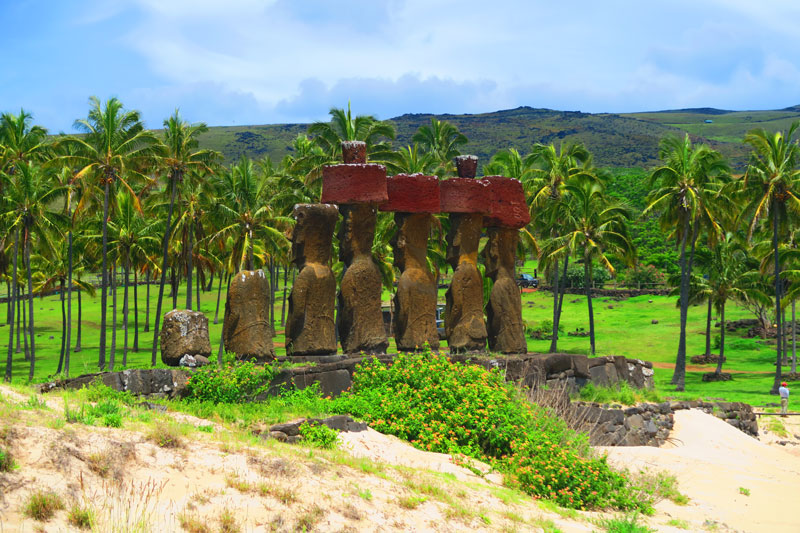 Ahu Nau Nau Anakena Beach Easter Island