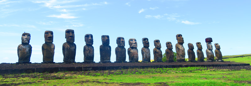 Ahu Tongariki Easter Island Panoramic View
