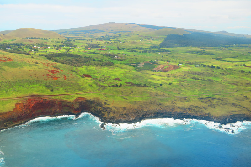 Easter Island from the air 2