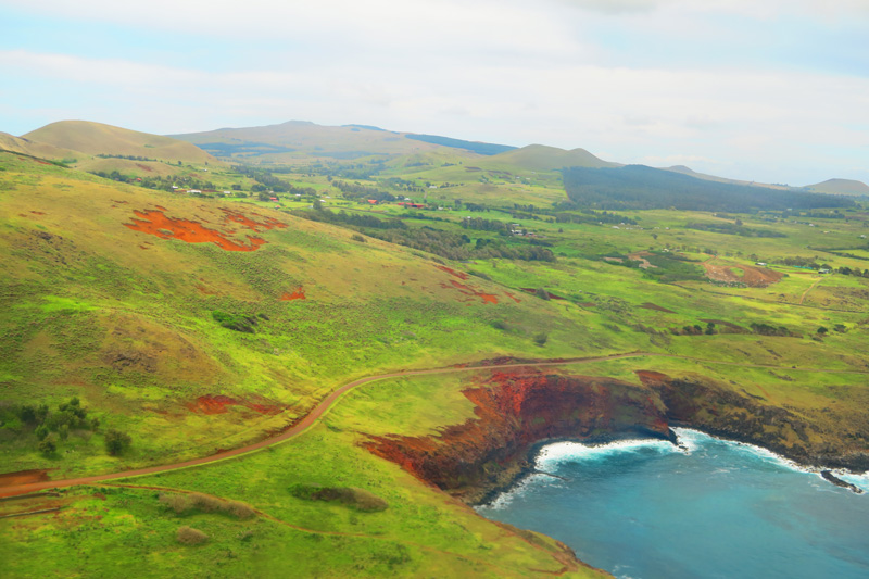 Easter Island from the air