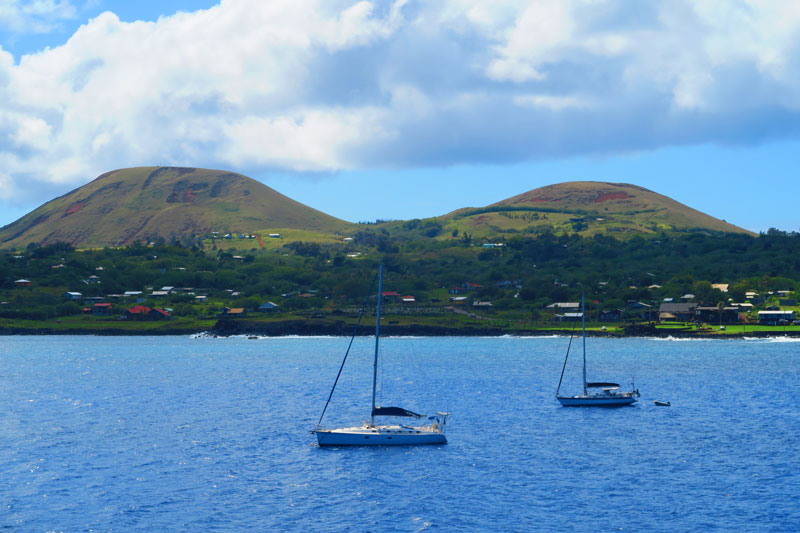 Easter Island from the sea