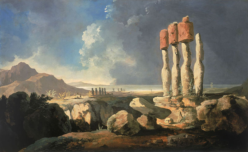 Easter Island old painting
