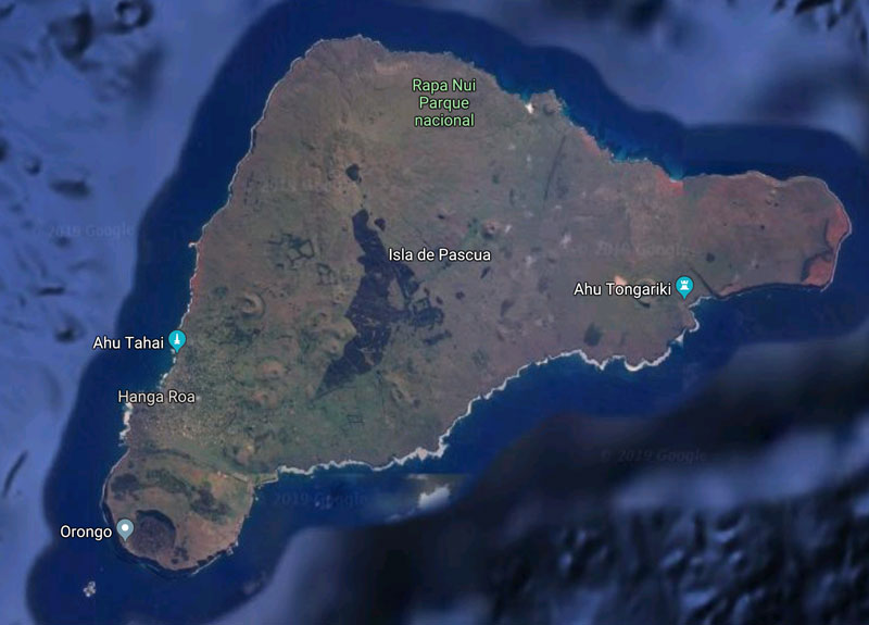 Easter Island satellite map
