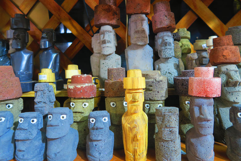 Easter Island souvenirs from carfts market Hanga Roa