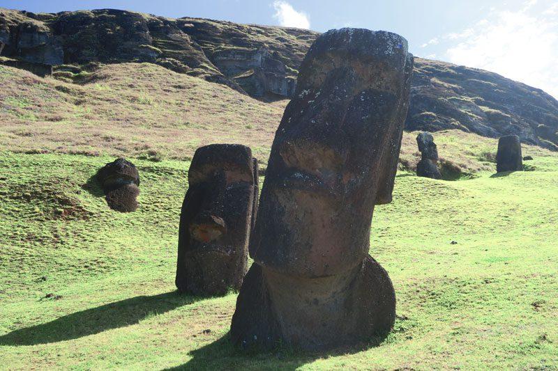 Hina Riru Crooked Moai Rano Raraku Easter Island