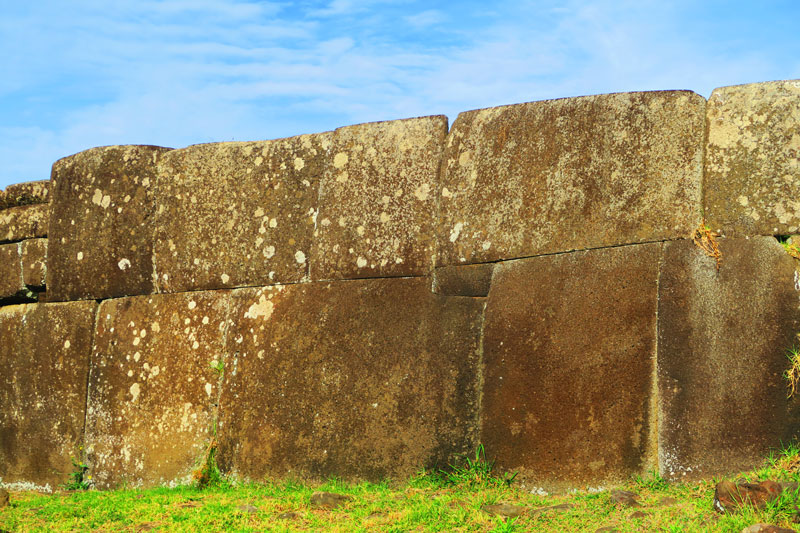Inca wall in Ahu Vinapu Easter Island