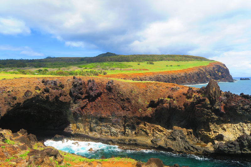 Lava Tube near Ana Kai Tangata Cannibal Cave Easter Island