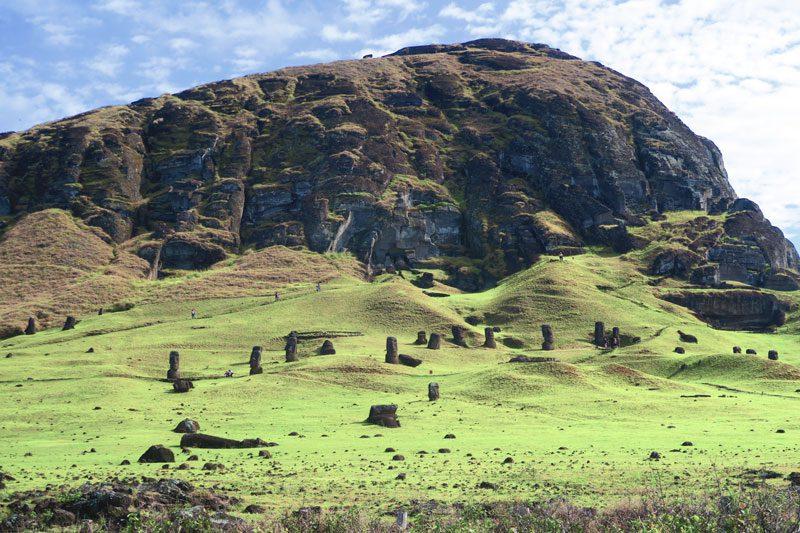 Rano Raraku Moai quarry Easter Island