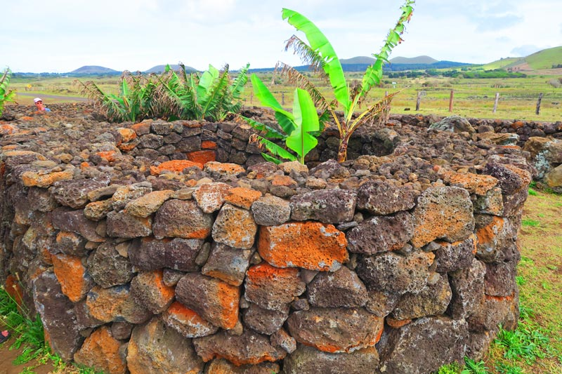 Walled enclosure for crops Easter Island