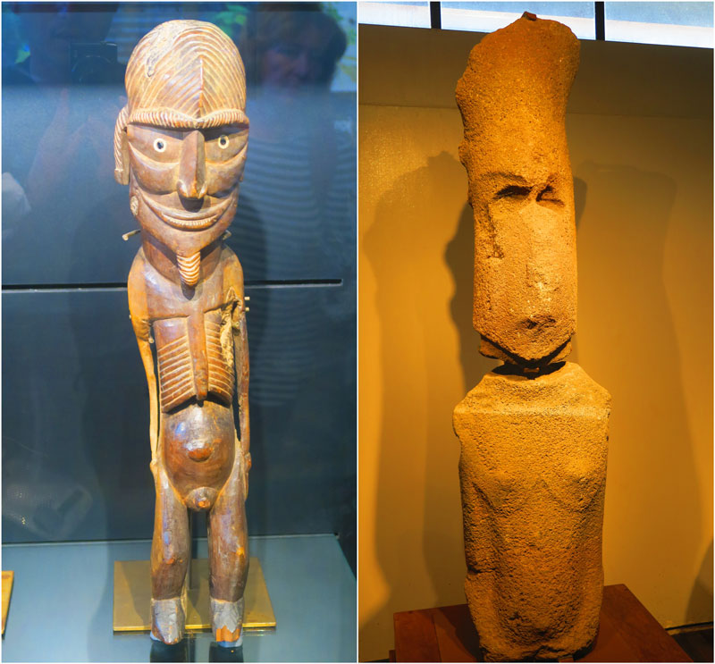 female moai in easter island museum