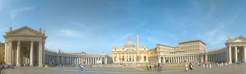5 Days In Rome - St Peters Square Vatican - Panoramic view