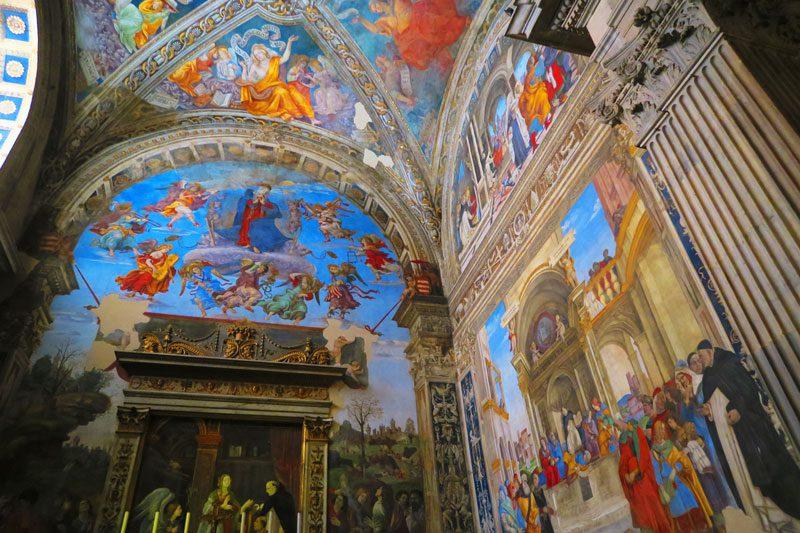 Basilica di Santa Maria Sopra Minerva - Rome church - fresco 2