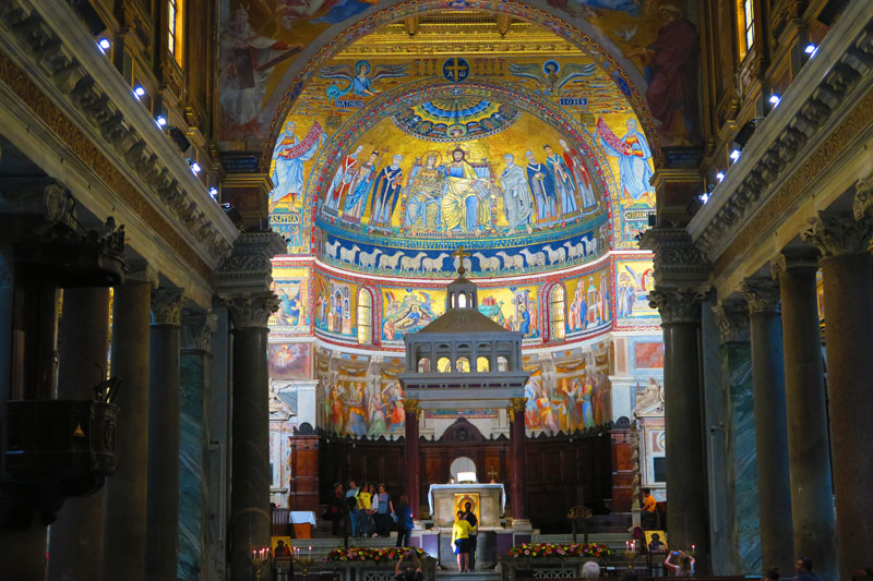 Basilica di Santa Maria in Trastevere - Rome church - mosaic