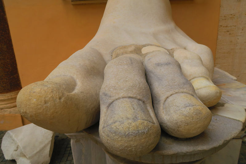 Capitoline Museums Rome - giant toe