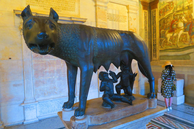 Capitoline Museums Rome - she wolf statue - Rome symbol