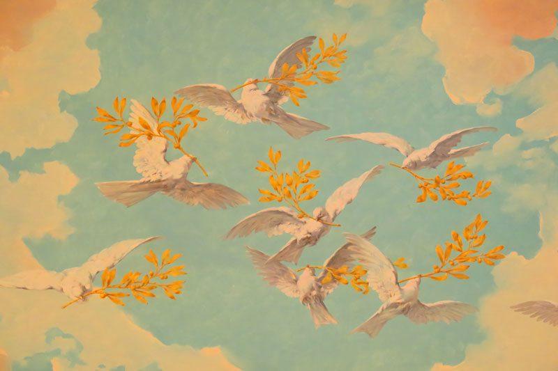 Doria Pamphilj Gallery- Rome museum - ballroom wall painting