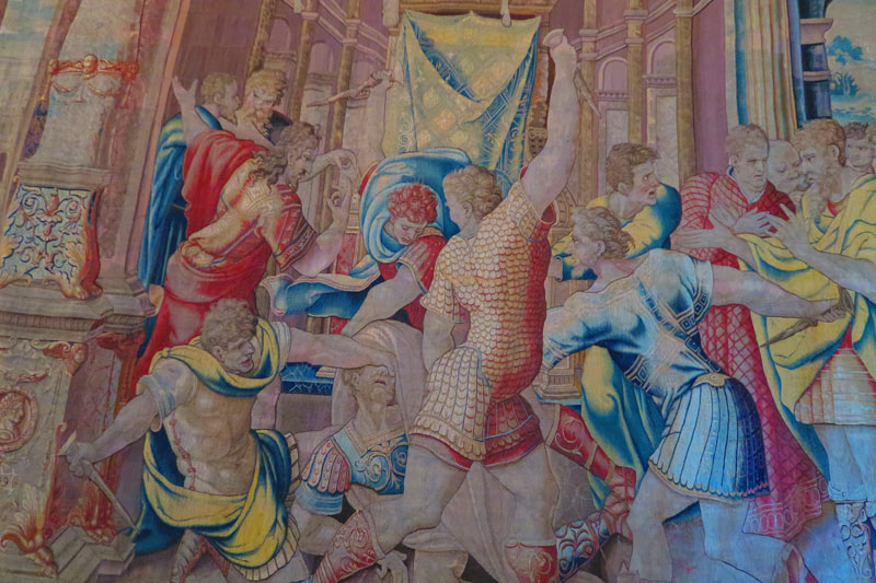 Galleria degli Arazzi - Vatican Museums - Rome - giant taspestry