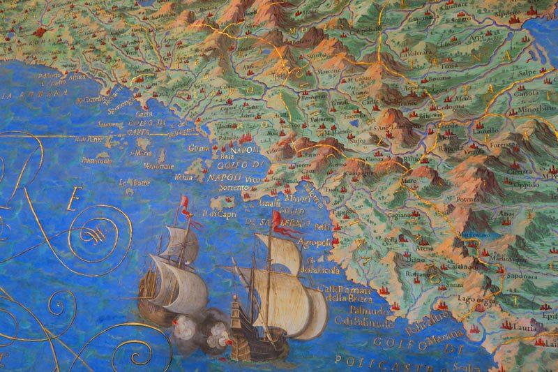 Galleria delle Carte Geografiche - Vatican Museums - Rome - ancient map of Rome