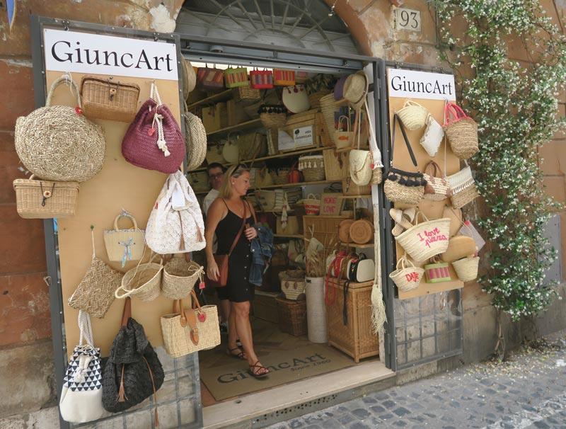 GiuncArt - straw bags - Rome