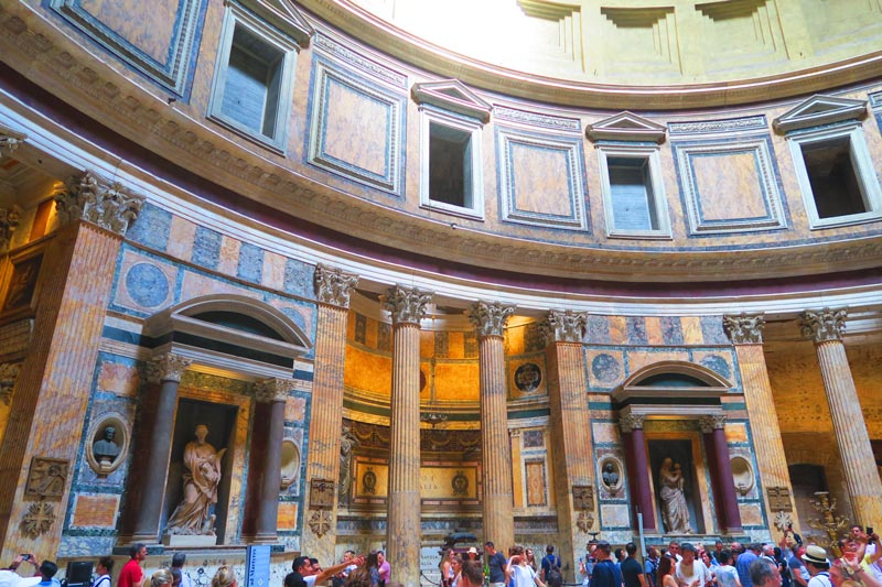 Interior of the Pantheon in Rome