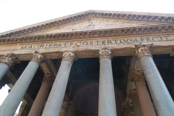 Latin inscription on the Pantheon Rome