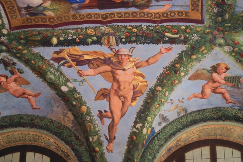 Loggia of Cupid and Psyche - Villa Farnesina Museum - Rome
