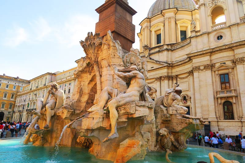 Piazza Navona Rome Fountain of the Four Rivers