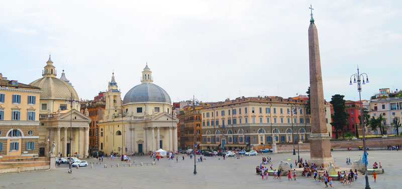 Piazza del Popolo - Rome - panoramic view