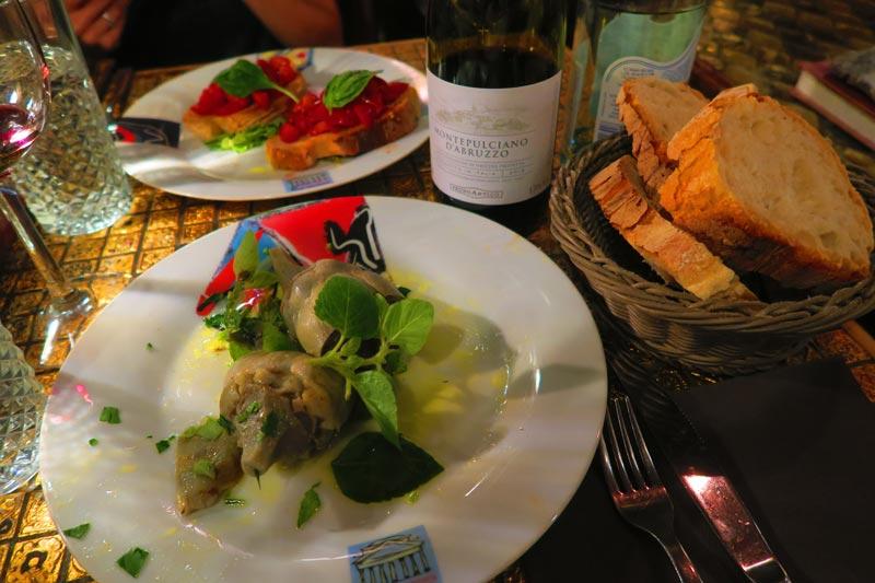 Pietro al Pantheon - Rome restaurant - jerusalem artichoke