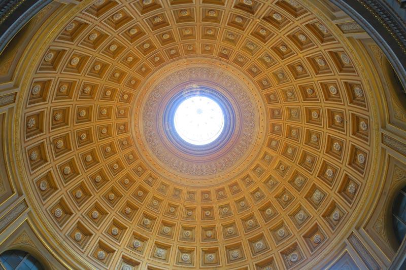 Pio-Clementino Museum - Vatican Museum - Rome - dome