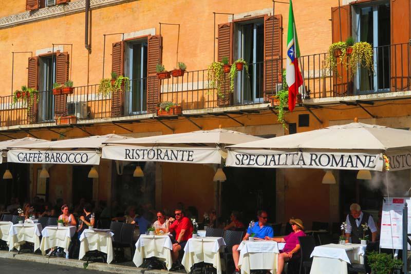 Restaurant in Piazza Navona Rome