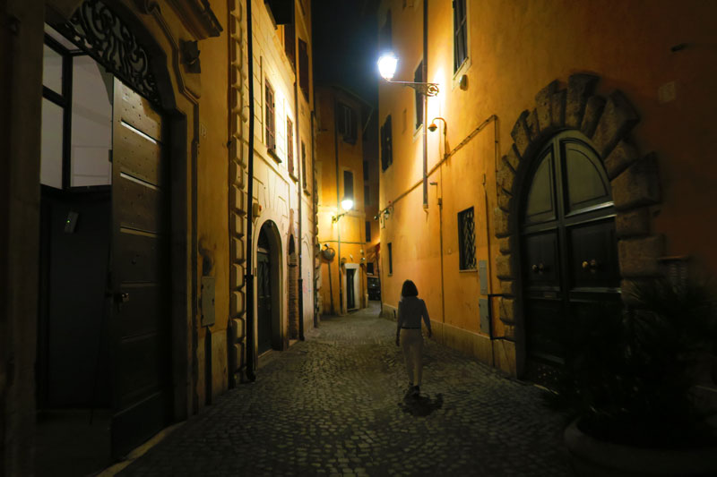 Rome alley by night