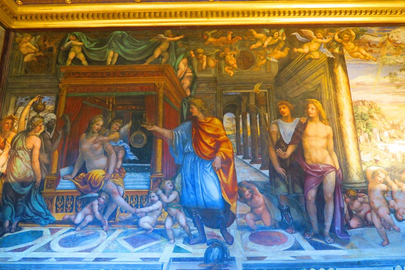 Room of the Frieze - Villa Farnesina - Rome Museum