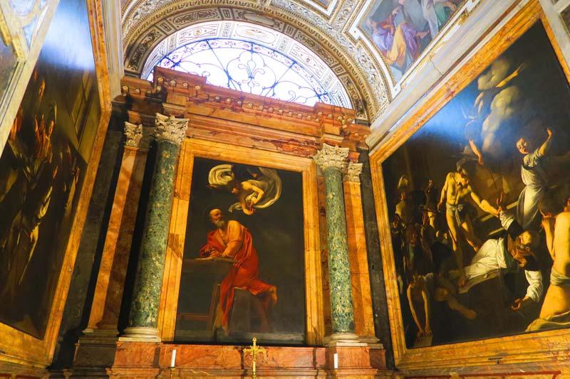 San Luigi dei Francesi - Caravaggio St Matthew - Rome church