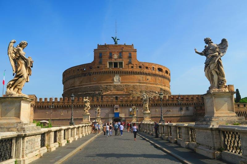 Sant'angelo bridge and castle - Rome
