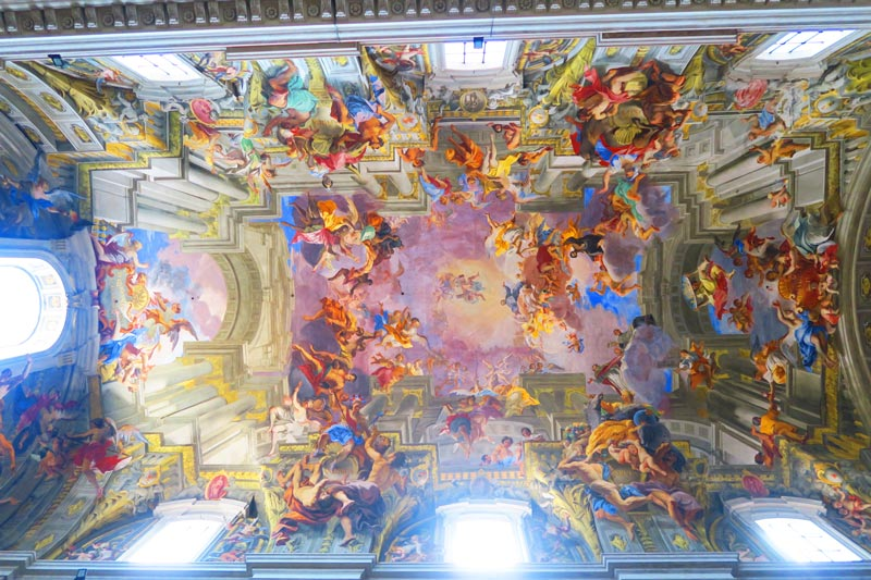 Sant' Ignazio di Loyola - Rome church - fresco ceiling