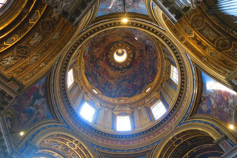 Sant'Agnese in Agone - fresco dome - Piazza Navona Church - Rome
