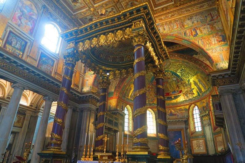Santa Maria Maggiore- Rome Church - Baldacchino