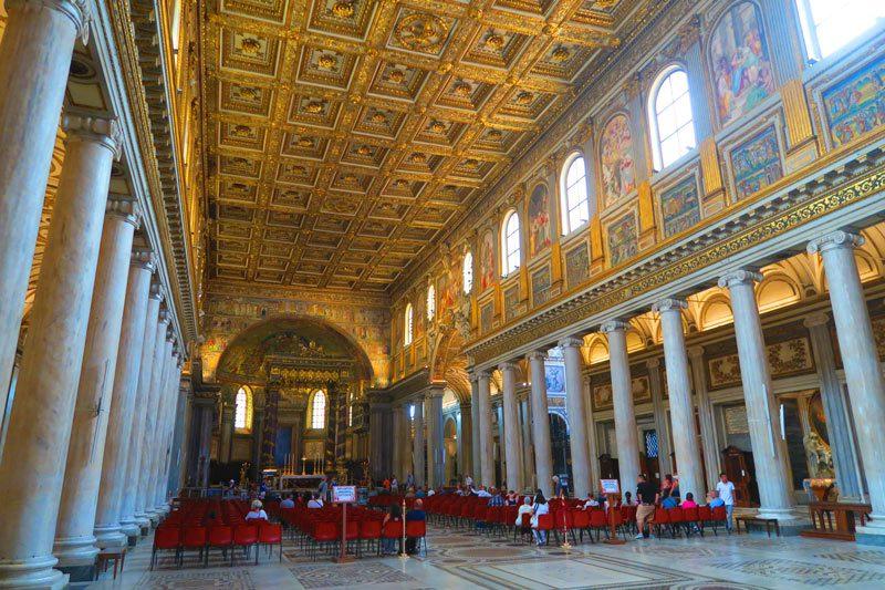 Santa Maria Maggiore- Rome Church - interior
