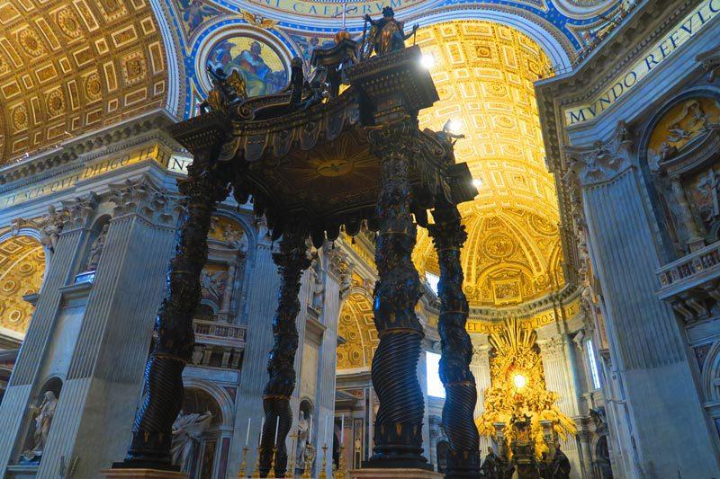 St. Peter's Basilica- Vatican - Rome - Baldacchino 1