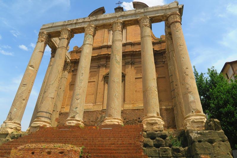 Temple at Roman Forum - Rome