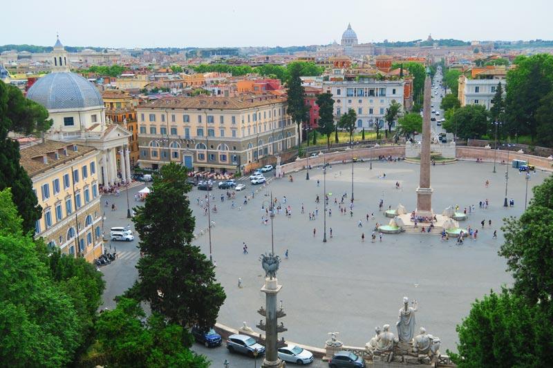Terrazza del Pincio - Villa Borghese Park Rome