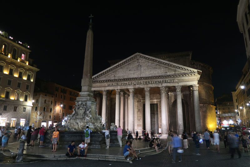 The Pantheon Rome - at night
