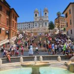 The Spanish Steps and Bernini Fountain - Rome