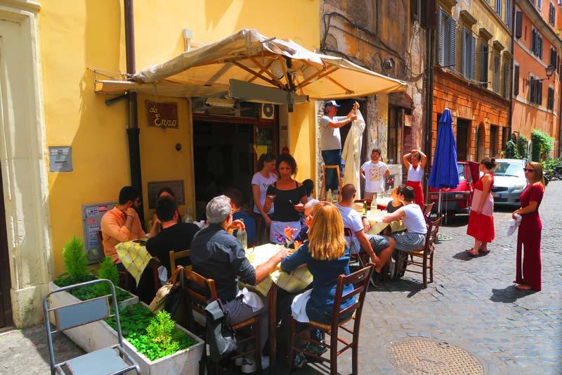 Trattoria Da Enzo al 29 - Trastevere Restaurant - Rome - exterior