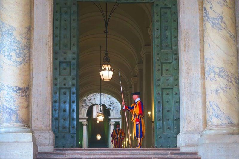 Vatican Guard traditional uniform - Rome